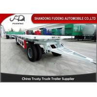 Wholesale Farm Goods Transport Semi Flatbed Trailers With Towing Drawbar Carbon Steel Material from china suppliers