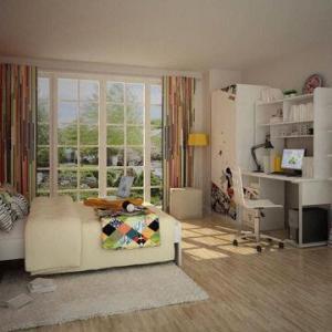 Wholesale Kids'/Children's Bedroom Furniture, E0 Grade, MDF, Contains Desk & Chair, w/ Cartoon Figure Desgin from china suppliers