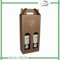 Wholesale Two Bottle Wine Gift Boxes Package Matt Lamination With Paper Handle from china suppliers