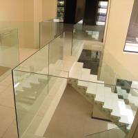 Wholesale frameless glass balustrade,u channel glass railing, indoor glass railing from china suppliers