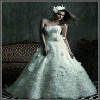 Wholesale Hot Strapless Ruffled Tulle Bridal Gown (NX10007) from china suppliers