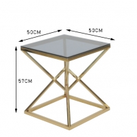 Wholesale 50x50cm Modern 0.47cbm Stainless Steel And Glass Coffee Table from china suppliers