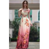 Wholesale A-line Floor Length Round Neck Straps Printed Modern Bridesmaids Dresses -30663 from china suppliers