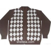 Wholesale Mens Wool/cashmere Intarsia Argyle Glof Zipper Cardigan Sweater from china suppliers