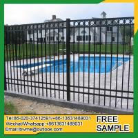 China Ludington black aluminum fence ornamental picket fencing on sale