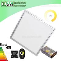 China 48w 600x600mm Dual White 24V LED Panel with RF dimmer on sale
