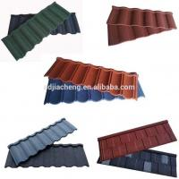Wholesale Red Color Stone Coated Metal Roofing Tiles / Stone Coated Steel Roofing Tiles from china suppliers