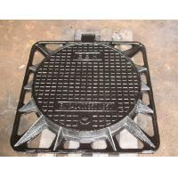 Iron casting manhole covers, square outside, round inside
