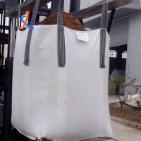 Wholesale High quality 145gsm polypropylene white big bags 1000kg 1 ton jumbo bag with cheap price from china suppliers