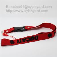 Wholesale Personalized polyester rivet lanyard with plastic release buckle from china suppliers