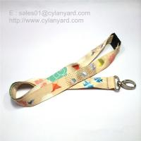 Wholesale Dye sublimation transfer print lanyard with breakaway buckle from china suppliers
