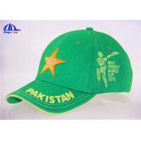 Buy cheap 100% Cotton Embroidery Cricket Baseball Cap With Pakistan 3D Embroidery from Wholesalers