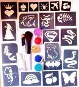 Wholesale Body Art Temporary Glitter Tattoo Kit with 12 Colors Tattoo Ink from china suppliers