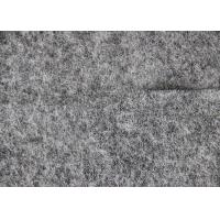 50% Woollen 50% Viscose Dress Fabric , Grey Micro Merino Wool Fleece Fabric