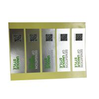 China UV Coating Etc Self Adhesive Security Labels Private Printing And Shape on sale