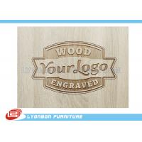 Customized Engraved Wood Display Logo For Display Accessory , Paint Finished