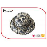 Buy cheap Reversible Flower Printed Bucket Hat , Canvas Wide Brim Fishing Hat from Wholesalers