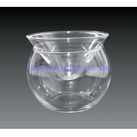 Wholesale Kitchen Glass Caviar Server , Round Shaped Caviar Plate Plus Bowl For Ice from china suppliers