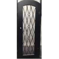 Wrought Iron Single Door With Square Top
