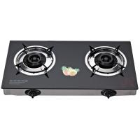 China Portable Tempered Glass Top Table Top Stove Gas Two Burner With Electronic Ignition on sale