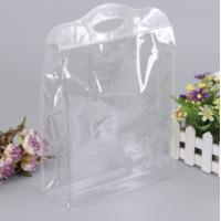 Wholesale Transparent EVA Plastic Bag , Clear Cosmetic Bags With Carry Handle from china suppliers