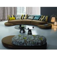 Wholesale Italian Style Round Modern Fabric Sofas , Round corner sofa supply , Half moon sofa from china suppliers