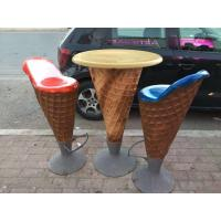 Wholesale vivid ice cream  fiberglass chair  as decoration statue in plaza hall or supermarket from china suppliers