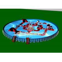 Outdoor Portable Round Steel Frame Pool PVC Tarpaulin And Metal Frame