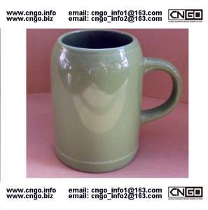 Wholesale wholesale green beer mug ceramic beer mug custom colors LOGO 500ML beer mug from china suppliers