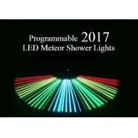 Wholesale Programmable Meteor Shower LED Christmas Lights UK / US Plug Full Color 80cm Length from china suppliers