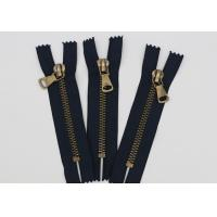 Antique Brass Normal Teeth Fire Retardant Zippers 9 Inch Cotton Yarn Black Tape