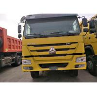 Wholesale 40 Ton Sinotruk Howo 6x4 Dump Truck , Yellow Color Heavy Duty Tipper Trucks from china suppliers