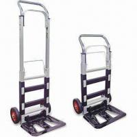 Wholesale Two Wheel Aluminum Trolley/Handtruck with 6-inch Rubber Wheel and Nickel-plated Handle from china suppliers