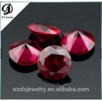 China Synthetic corundum rough/Synthetic ruby red corundum on sale