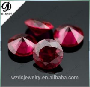 China Synthetic corundum rough/Synthetic ruby red corundum on sale
