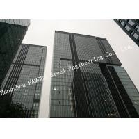 Quality Hidden Framed Aluminum Glass Curtain Wall Heat Insulation For Commercial Office Mall for sale