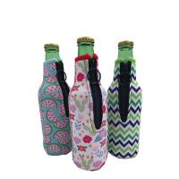 Sublimation Printing Neoprene Single Beer Bottle Cooler with zipper for Promotion Gift size is 19cm*6.3cm, SBR material.