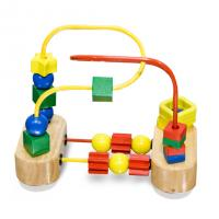 Wholesale Honest Cow Colorful beads wooden Rack-education toy from china suppliers