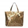 Buy cheap Women Geometric Large Tote Bag Leather Glossy Ladies Shoulder Handbag from wholesalers