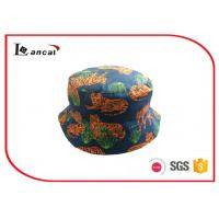 Buy cheap Tiger Printed Bucket Hat Reversible Navy Sports Bucket Fisherman Hat from Wholesalers