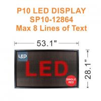 Wholesale P10 LED Display Sign, 1-8 Line 128x64 RED from china suppliers