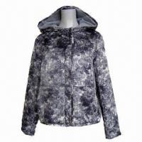 Buy cheap Women's Padded Short Jacket, Made of Printed Polyester Fabric, Antistatic Lining from wholesalers