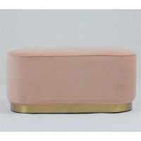Buy cheap Modern Velvet Fabric Pouf Small Stool Ottoman Golden Trim Living Room Furniture from wholesalers