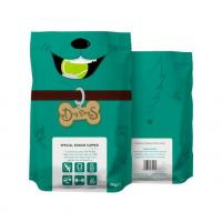 stand up pet food pouch with zipper , plastic packaging food bag