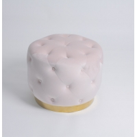 Wholesale Multi Colors Round Velvet Button Ottoman Bench Puff Sofa from china suppliers