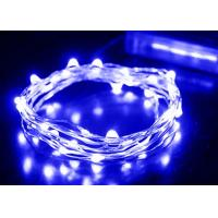 Wholesale Copper Wire Battery Operated LED Christmas String Lights White / Blue from china suppliers