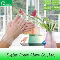 Wholesale DINP Protective Disposable Vinyl Glove For Cleaning Room Powder Free / Powdered from china suppliers