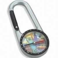 Wholesale Compass with Carabiner, Fit for Travel, Available in Size of 6.9 x 3.0 x 0.8cm from china suppliers