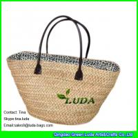 Wholesale LUDA natural straw bags cornhusk straw monogrammed beach bags from china suppliers