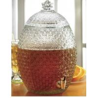 Wholesale Large Pineapple Glass Kitchen Containers With Lids / Transparent Beer Glass Juice Jars from china suppliers